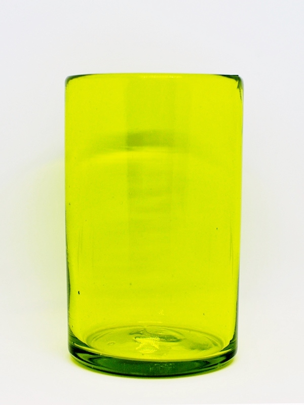 MEXICAN GLASSWARE / Solid Yellow drinking glasses